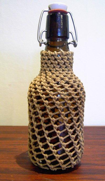 tränsad flaska
